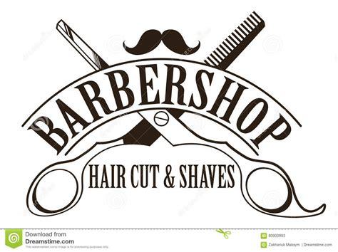 barbershop logo stock vector illustration of business