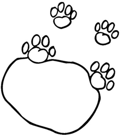 lion paw coloring page lion paw print outline clipart best