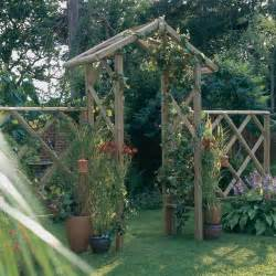 Garden Archway Trellis Forest Rustic Rose Arch 9 5 Quot High Free Uk Delivery Buy