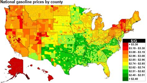 map of us gas prices u s gasoline prices this thanksgiving are the lowest