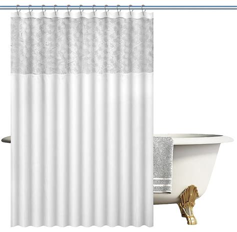 contemporary fabric shower curtains woven fabric shower curtain with lace faux silk
