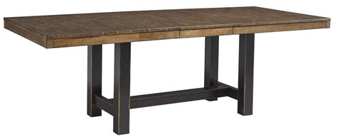 Two Toned Dining Table Emerfield Two Tone Brown Rectangular Extendable Dining Table From D563 35 Coleman