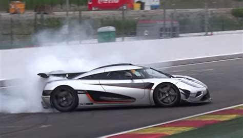 koenigsegg cars pushing the limits koenigsegg one 1 nearly crashes at spa francorchs