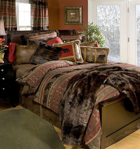lodge comforter bear country by carstens lodge bedding by carstens lodge