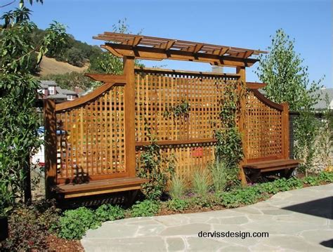 backyard privacy screens trellis landscaping photo of quot trellis screens arbors quot posted by