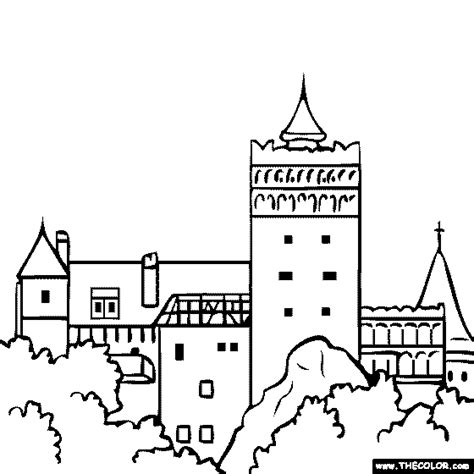 german castle coloring page famous places and landmarks coloring pages page 1