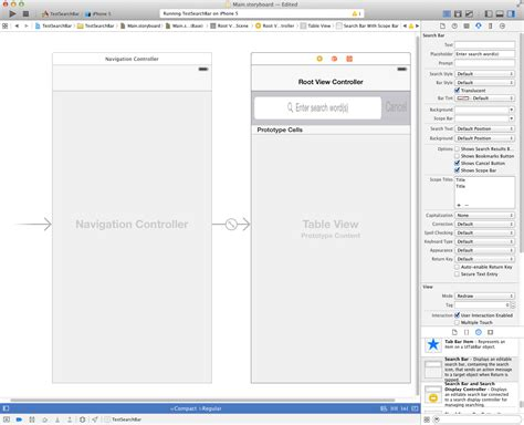 uitableview tutorial xcode 6 ios uitableview with searchbar does not display scopebar