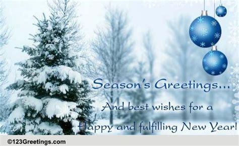Season's Greetings  Formal Wishes. Free Seasons