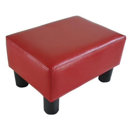 small ottoman walmart homcom modern small faux leather ottoman footrest stool