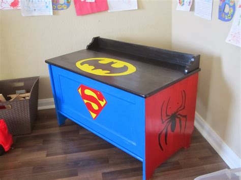 toy box ideas when the boys sleep superhero toy box