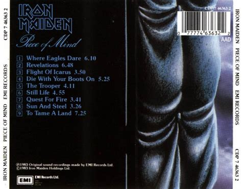 Cd Iron Maiden Of Mind metal server