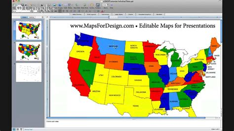 us map highlight states how to edit a usa map in powerpoint and pullout an