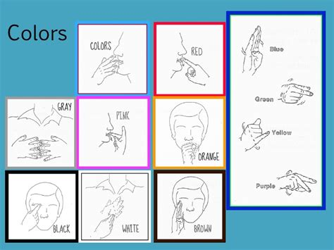 sign language for colors top american sign language colors images for tattoos