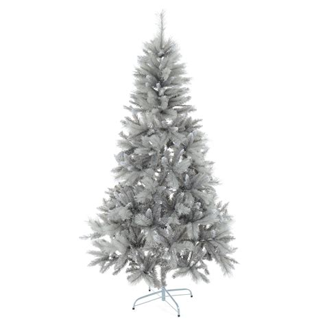artificial grey silver tip tree 7ft 6ft 7ft silver mixed pine artificial tree silver glitter needles ebay