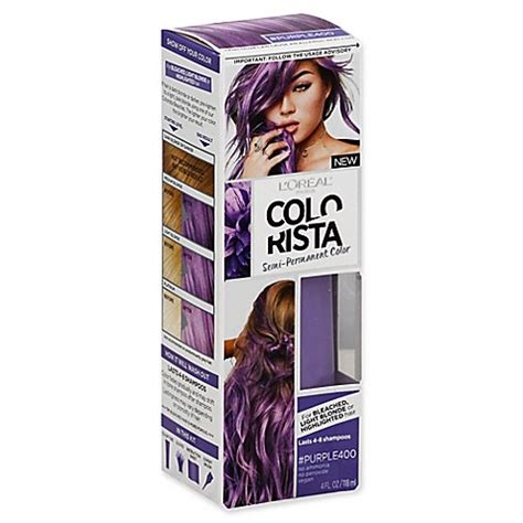 loreal semi permanent hair color buy l oreal 174 colorista 4 fl oz semi permanent hair color
