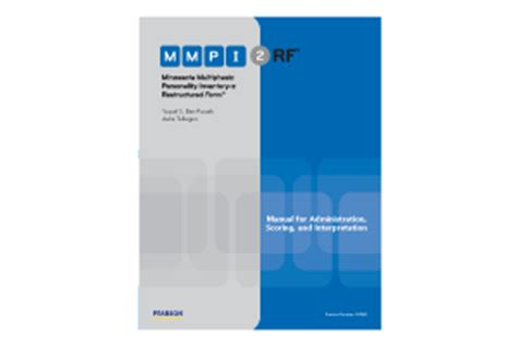 assessment using the mmpi 2 rf psychological assessment series books minnesota multiphasic personality inventory 2 restructured