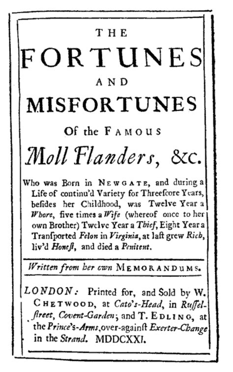 Moll Flanders Essay by Daniel Defoe Additional Resources
