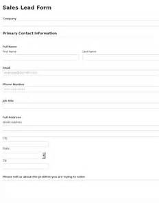 sales inquiry form template business form template gallery