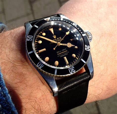 glossy gilt set of 2 x vintage rolex submariner big