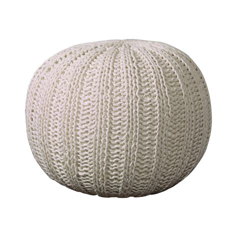 knitted poufs ottomans bungalow rose canala hand knitted traditional pouf ottoman