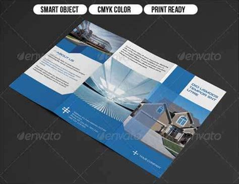 real estate tri fold brochure template 25 best premium and free psd brochure templates 2014