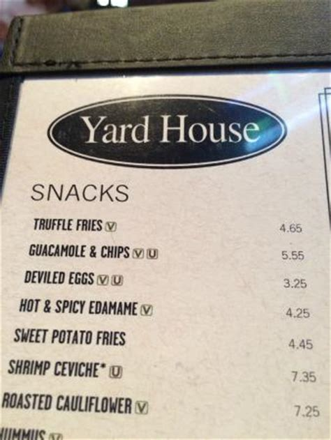 yard house coral gables menu picture of yard house coral gables tripadvisor