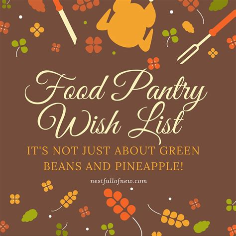 food pantry wish list it s not just about green beans