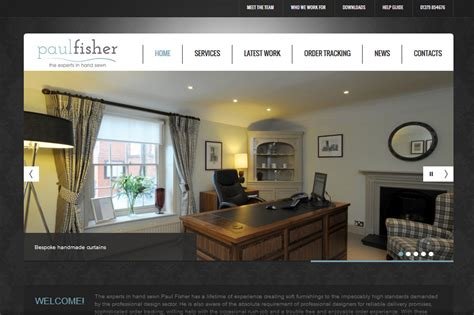 trade curtain makers paul fisher new website launched