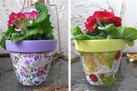 decoupage pots planet how to decoupage flower pots