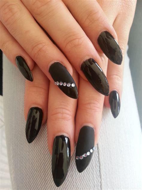 imagenes de uñas de acrilico color negras u 241 as postizas negras mate