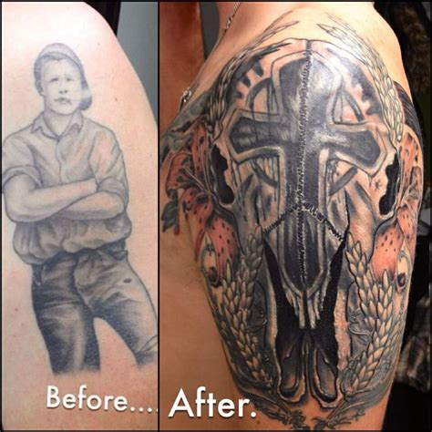 great cover up tattoo before amp after pinterest