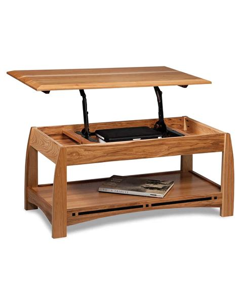 coffee table that opens for boulder creek open coffee table with lift top amish