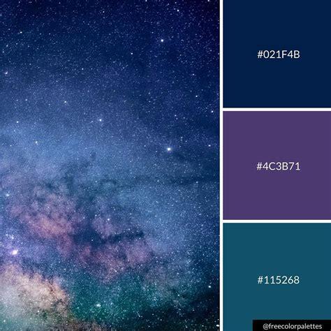 galaxy color palette galaxy space warm color palette inspiration