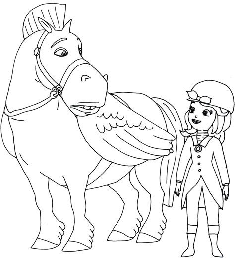 sofia the first coloring pages to print