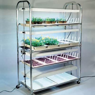 4 Tier Grow Light Plant Stand 16 Trays Harris Seeds