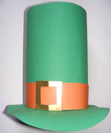 How To Make A Leprechaun Hat Out Of Paper - st s day leprechaun hat craft preschool