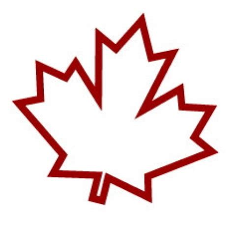 Canada Maple Leaf Outline by Maple Leaf Outline
