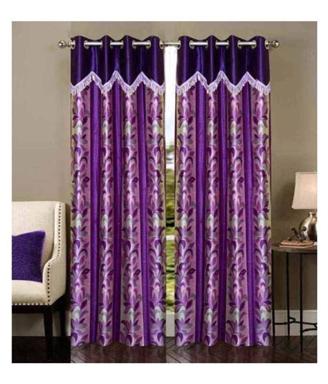 curtain trends new trends set of 2 door eyelet curtain floral purple