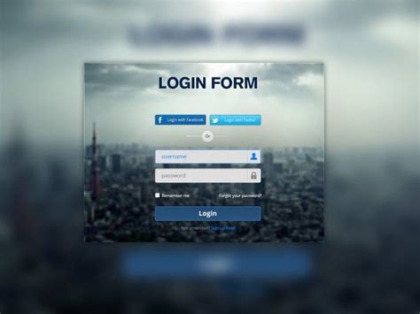 30 web blue login form screen page free html psd template