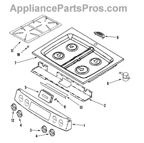 jenn air oven parts diagram parts for jenn air jds8850bdw panel top