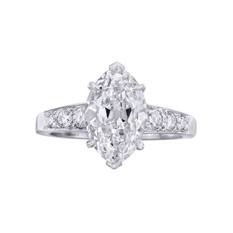 shaped wedding rings with diamonds betteridge 2 65 carat marquise shaped engagement