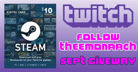 Steam Gift Card 10 - 10 steam gift card giveaway 5 winners one each sunday in september michael killi