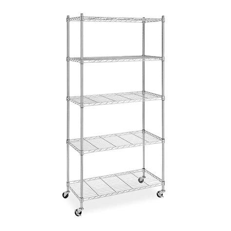 estante de metal estante metal 5 niveles cromo con llantas