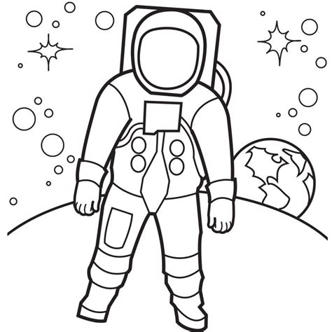 astronaut template free printable astronaut coloring pages for