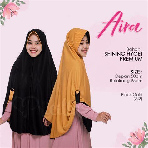 jilbab pricilla aira 2in1 black gold a12 indogamis