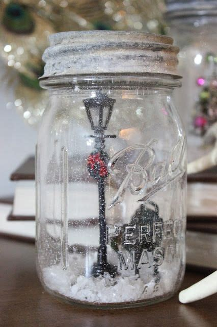 diy decorations snow globe diy snow globes a jar tiny set figurines