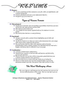 Different Resume Templates by Different Resume Formats Getessay Biz