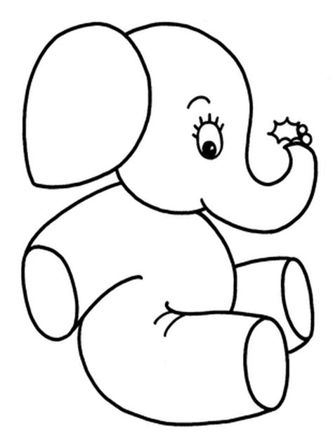 Elephants Coloring Pages Realistic Realistic Coloring Pages Coloring Pages Simple