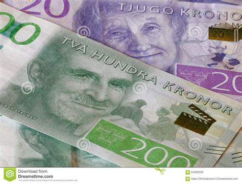 currency sek swedish currency 20 sek and 200 sek new layout 2015