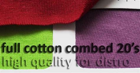 Kaos Katun Polos C59 perbedaan cotton combed 20s 24s 30s pada kaos grand